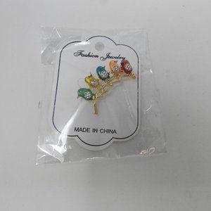 Jewelry - Oriental Bird Broach Gold Fashion Jewelry